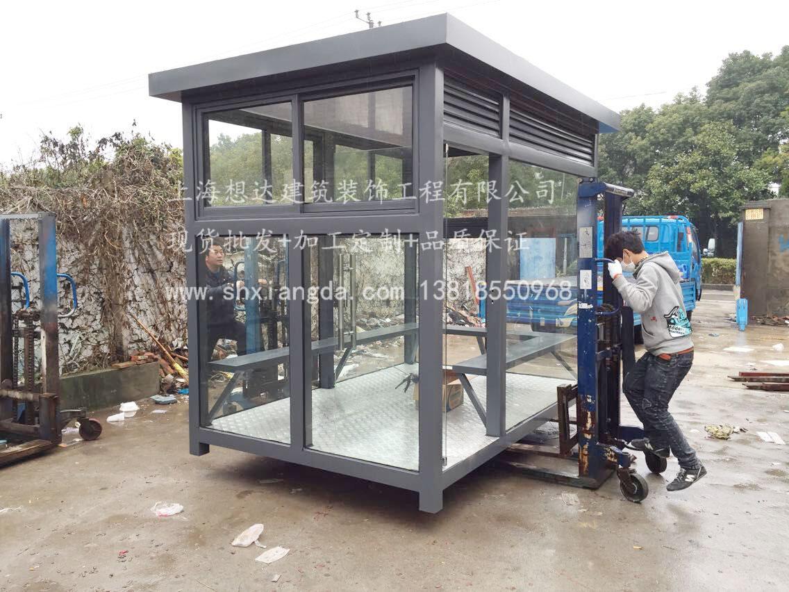 人工焊接吸烟岗亭003\连云港工地厂家吸烟室