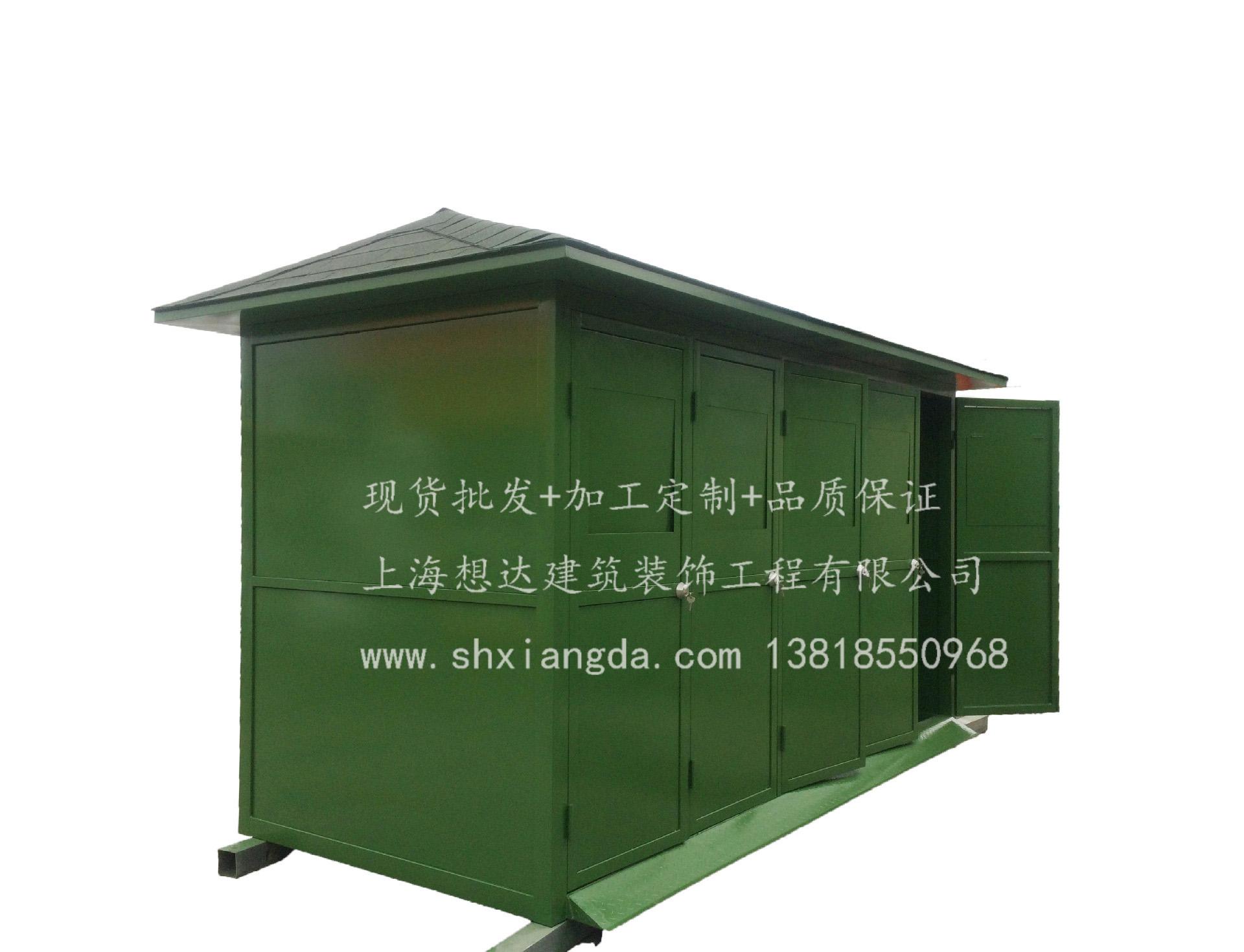 四分类垃圾房003\材质可选商场垃圾房